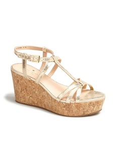 kate spade new york 'tropez' wedge platform sandal