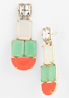 kate spade new york 'varadero tile' mixed stone statement earrings