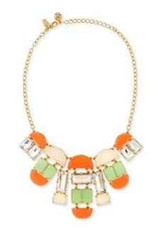 kate spade new york varadero tile necklace, coral/mint