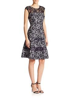 Kay Unger Bonded Lace Dress