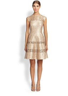 Kay Unger Bonded Lace Dress