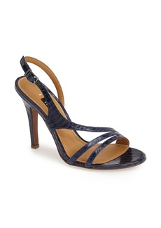 Kay Unger 'Cancan' Leather Slingback Sandal (Women)