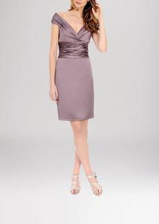 Kay Unger Dress - Satin Off-Shoulder