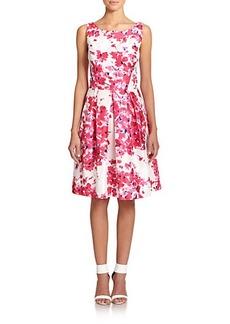 Kay Unger Duiponi Floral-Print Dress