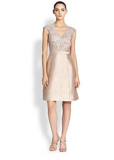 Kay Unger Embellished A-Line Dress