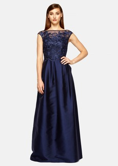 Kay Unger Embroidered Ballgown