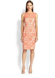 Kay Unger Embroidered Lace Dress