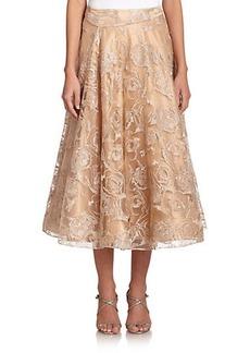 Kay Unger Embroidered Tulle Full Skirt
