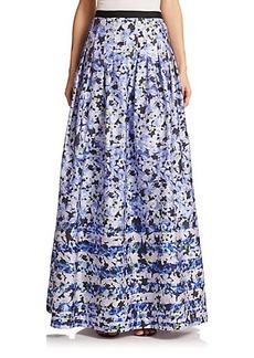 Kay Unger Floral Ball Skirt
