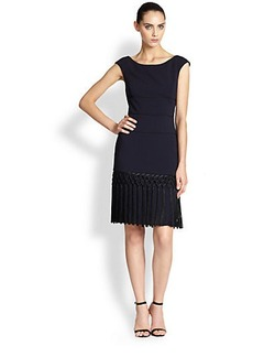 Kay Unger Fringed Dress