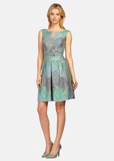 Kay Unger Jacquard Cocktail Dress