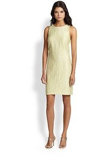 Kay Unger Jacquard Sheath Dress