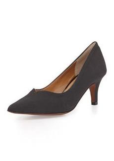 Kay Unger Kiarra Faille Low-Heel Pump, Black