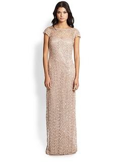 Kay Unger Lace & Sequin Gown