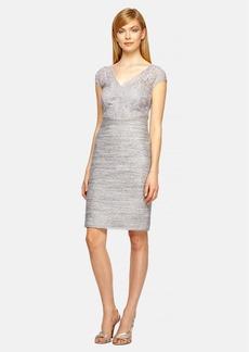 Kay Unger Lace & Tweed Sheath Dress