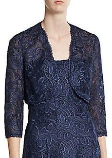 Kay Unger Lace Cropped Bolero Jacket