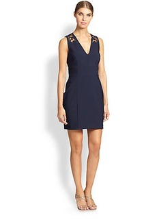 Kay Unger Lace-Detail Sheath Dress