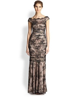 Kay Unger Lace Gown