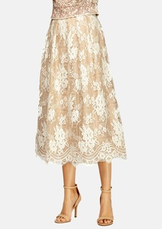 Kay Unger Lace Midi Skirt