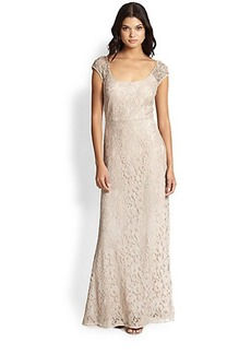 Kay Unger Lace Scoopneck Gown