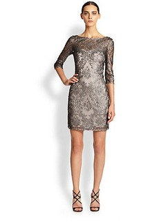 Kay Unger Lace Shift Dress