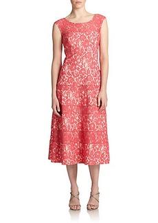 Kay Unger Lace Tea-Length Dress