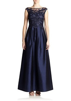 Kay Unger Lace-Top Ball Gown