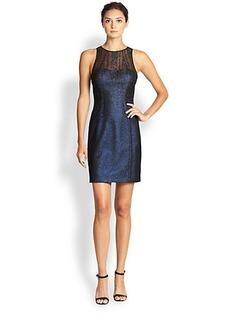 Kay Unger Metallic Foil Dress