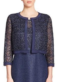 Kay Unger Metallic Lace Bolero Jacket