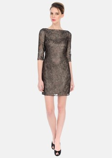 Kay Unger Metallic Sheath Dress