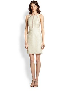 Kay Unger Metallic Tweed Cocktail Dress