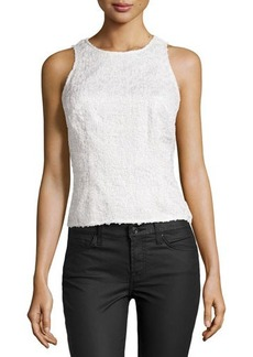 Kay Unger New York Allover Sequined Top, White
