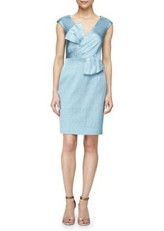 Kay Unger New York Bow-Detail Sleeveless Sheath Dress