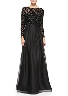 Kay Unger New York Bracelet Sleeve Popover Top Gown