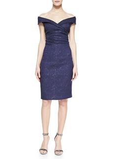 Kay Unger New York Cap-Sleeve Sheath Dress