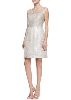 Kay Unger New York Damask Illusion Cocktail Dress