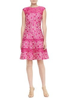 Kay Unger New York Fit-and-Flare Lace Cocktail Dress