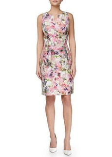 Kay Unger New York Floral-Print Sheath Dress, Pink Multi