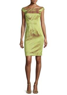 Kay Unger New York Iridescent Silk Dress, Green