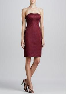 Kay Unger New York Jacquard Strapless Cocktail Dress