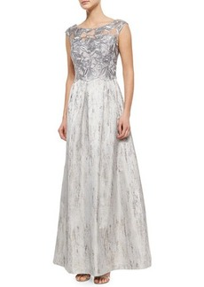 Kay Unger New York Lace-Bodice Ball Gown