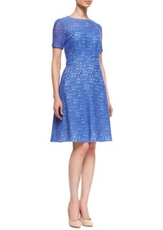 Kay Unger New York Lace Fit-and-Flare Dress