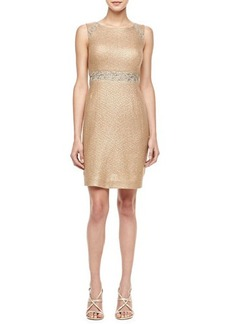Kay Unger New York Lace Inset Waist Cocktail Dress