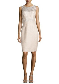 Kay Unger New York Lace Top Sheath Dress