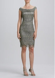 Kay Unger New York Off-the-Shoulder Lace Cocktail Dress