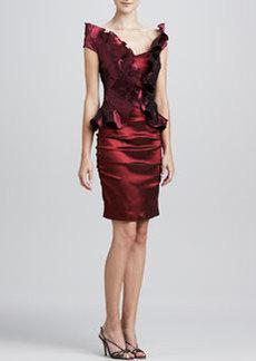 Kay Unger New York Ruffled-Bodice Cocktail Dress