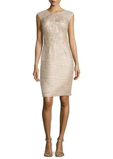 Kay Unger New York Sequined Tweed Cocktail Dress