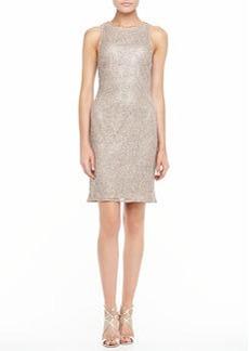 Kay Unger New York Sleeveless Beaded Cocktail Dress