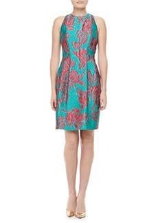 Kay Unger New York Sleeveless Floral Cocktail Dress