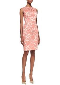 Kay Unger New York Sleeveless Floral Lace Sheath Dress